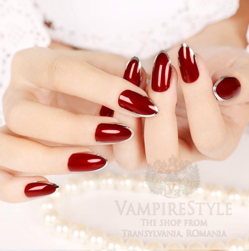 Fake Nails in Vampire Style   Cute Artificial Nail Tips - Vampire ...
